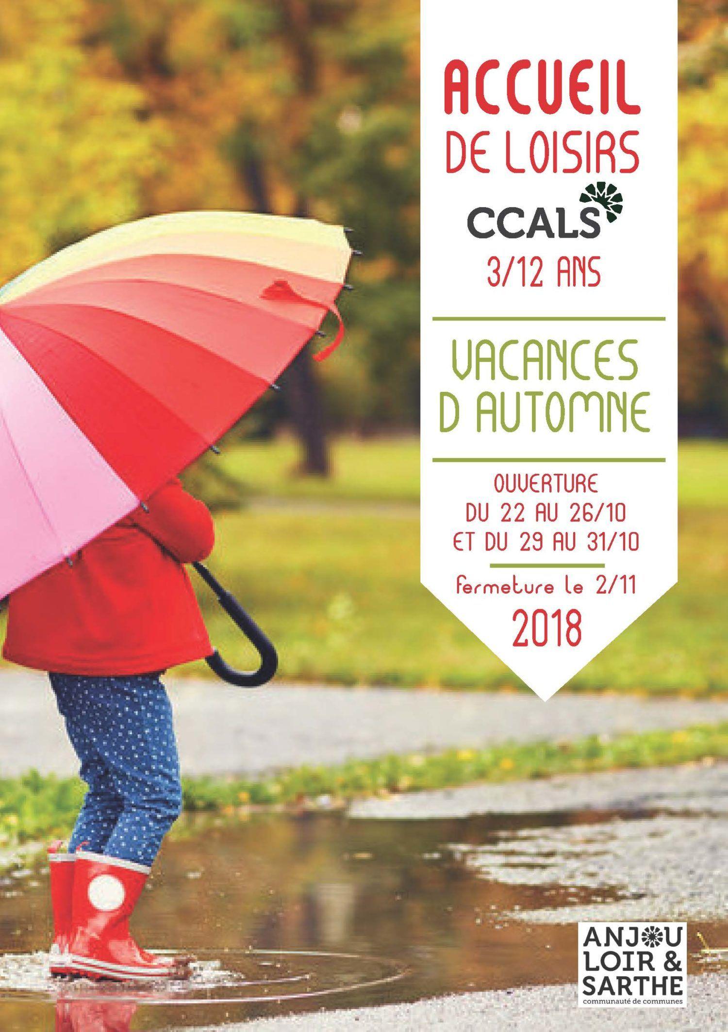 vacances Accueil de Loisirs toussaint 2018